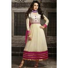Karishma Kapoor Off White Designer Anarkali Suit