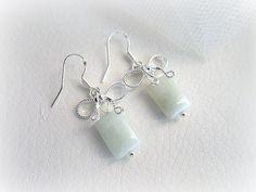 Genuine aquamarine and silver 925 earrings by MalinaCapricciosa, $27.50