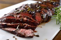 Recipe for Grilled Balsamic and Rosemary Flat Iron Steak at Life's Ambrosia