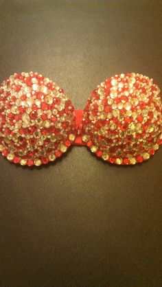 Candy Cane rave bra by sensationcreations12 on Etsy, $50.00