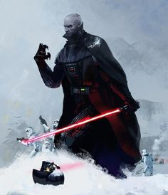 Darth Vader. What happens if he removes his helmet? #Art by: Paifer Chajean-