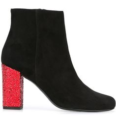 Saint Laurent 'Babies' ankle boots (40.885 RUB) ❤ liked on Polyvore featuring shoes, boots, ankle booties, black, leather booties, black ankle booties, leather boots, short boots and leather ankle boots