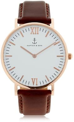 KAPTEN & SON 40mm Leather Watch