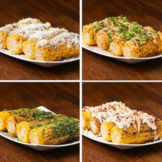 Grilled Corn 4 Ways