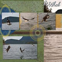 Disney Scrapbook Layout - Alaska Cruise Eagles in Juneau
