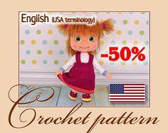 Masha Amigurumi Crochet Doll Pattern PDF file by Anna