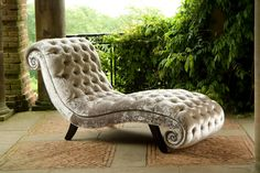 GORGEOUS. Want it in purple for my office. Parisian Chaise Longue Day Bed. $2,993.60, via Etsy.