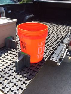 Inexpensive slider for your truck! Easily slide this cargo mat in and out of your truck bed to access the items up front without climbing in. The mat is not attached to the truck and assembles in minutes without tools! Tmatproducts.com