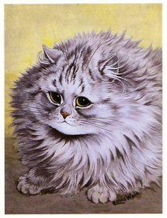 gagagate: Status: 1983 Louis Wain Persian Cat Print: Arrived