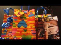Como hacer bolsas de regalo con abre fácil. Gift bags with easy open.