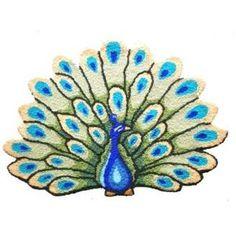 Beautiful Peacock Handmade Area Rug $39.98 www.allthingspeacock.com