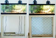 Take the focus away from hanging cords with a piece of pretty fabric.