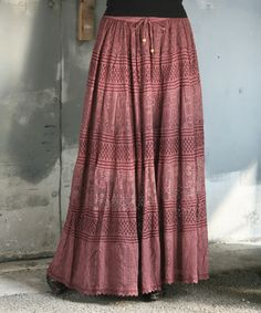 Anandas Collection Brown Lace Maxi Skirt - Women   zulily