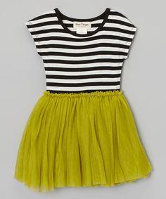 Taylor Joelle Designs Green & Black Stripe Dress