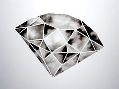 Geometric Diamond III - Original Watercolor on Etsy, $90.00