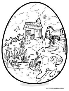 Image detail for -Easter color page, holiday coloring pages, color plate, coloring sheet ...