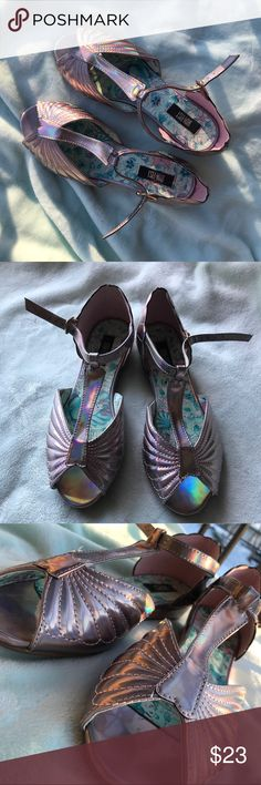 Iron Fist Women's Mother of Pearl Dress Sandal.  Paging Zenon.  I'm living off your solar flare, could you be my Supernova Girl? #zoomzoomzoom  Various pulled strings/worn down soles as pictured. Iron Fist Shoes Sandals