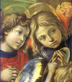 """Apparition of The Virgin to St. Bernard"" (1489-1491) Filippino Lippi"