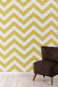 UrbanOutfitters.com > Zee Wallpaper  Two of my favourite things combined - mustard yellow & zigzag pattern