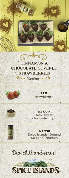 cf8302b5d54 Spice up your Valentine s Day with Cinnamon   Chocolate-Covered  Strawberries! To make