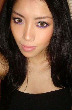 purple eyeliner for brown eyes