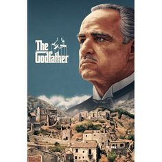 The Godfather (officially licensed poster) - Sam Gilbey – Illustration portfolio The Godfather Wallpaper, The Godfather Poster, Godfather Quotes, Godfather Movie, Classic Movie Posters, Movie Poster Art, Der Pate Poster, Don Corleone, Mejores Series Tv