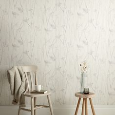 Buy Croft Collection Grasses Wallpaper, Clover from our Wallpaper range at John Lewis & Partners. Scandi Wallpaper, Wallpaper Decor, Wallpaper Online, Bedroom Wall, Bedroom Decor, White Bedroom, Bedroom Ideas, Kids Art Galleries, Loft Room