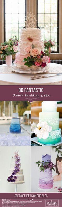 Ombre wedding cakes