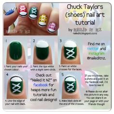 This is such a cute idea! Nail Art Tutorial Nails www.finditforwedd... Shoe nails