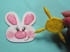 Foam bunny Bunny Crafts, Easter Crafts, Foam Crafts, Handicraft, Elephant, Kids, Rabbits, Folk Art, Blog