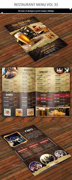 Restaurant Menu Template Vector EPS, AI. Download here: http://graphicriver.net/item/restaurant-menu-vol-35/15021313?ref=ksioks