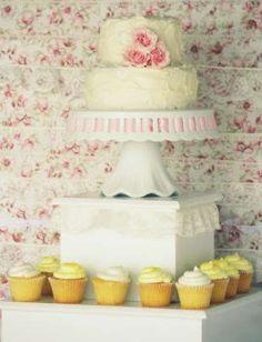 Shabby Chic/Vintage Bridal Shower | CatchMyParty.com