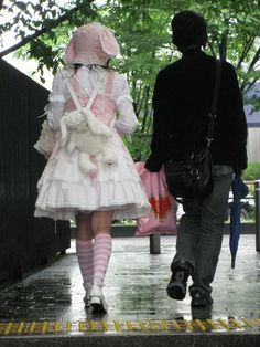 Couple Aesthetic, Aesthetic Girl, Aesthetic Clothes, Alternative Outfits, Alternative Fashion, Kawaii Fashion, Lolita Fashion, Kawai Japan, Lolita Mode