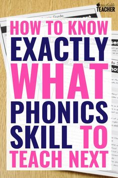FREE Phonics Assessment: How to Know Exactly what to Teach Next