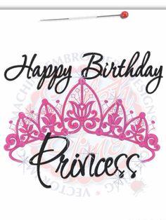 Happy Birthday Princess Crown Machine Embroidered by RockintheTutu, $23.00