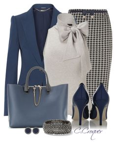 """Navy & Grey"" by ccroquer ❤ liked on Polyvore featuring Dorothy Perkins, Alexander McQueen, Ralph Lauren, Chloé, River Island, House of Harlow 1960 and Dolce&Gabbana"
