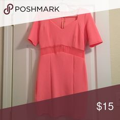 Cute coral club dress Coral dress with a mesh midsection. Perfect for a summer night out Charlotte Russe Dresses Mini