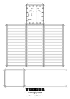 New shipping container paper models! | Downloads... print out and construct your own 1:48 scale model