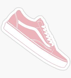 9041bda67a3 Vans Old Skool Low Top Pink   White Sticker Can create line like this and  write