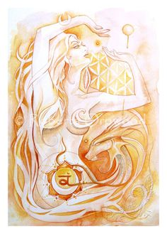 A3 Sacral Chakra Goddess / Orange Goddess / Orange от SoulBirdArt