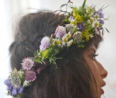 Wildflower head wreath.