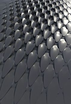 These details give the car interesting texture and design. Imagine if they were little solar panels that helped the car charge during the day. Tower by Daniel Widrig, futuristic design. Parametric Architecture, Parametric Design, Tiles Texture, Texture Design, Metal Texture, Futuristisches Design, Pattern Design, Tile Design, 3d Pattern