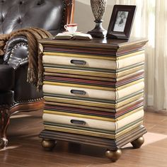 Anthony California Hand-Painted Multicolor Accent Table - I like the colors