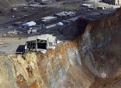 What started as movement measuring only fractions of an inch atKennecott Utah Copper's Bingham Canyon Minebecame the biggest