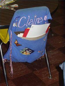 School Chair Pockets on Pinterest