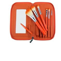 Coming Soon! Crown brush orange tip brush set Includes orange tip makeup brushes (beautiful and easy to find) with tweezers and mirror. All the tools you need for a quick makeup fix!  Message me to reserve (I only have the one) or like to be notified when it comes in. Crown Brush Makeup Brushes & Tools