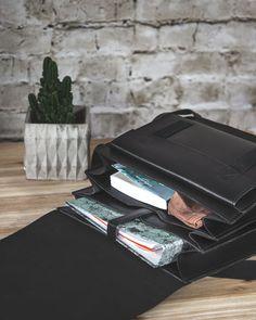 3e68183de0431 Mittelgroße Lehrertasche mit vielen Fächern aus Leder für Damen und Herren.  Hochwertiges Leder