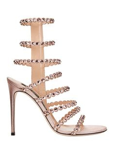 Shop the Sergio Rossi Kim Crystal Strappy High Heel Sandals