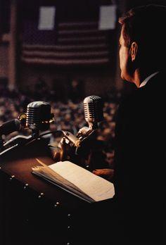melisaki:    JFK  photo by Cornell Capa; Michigan, Labor Day, 1960