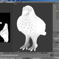 Ambient Occlusion baking. Getting ready to texture paint. Three Eyed Raven. #GameOfThrones #ThreeEyedRaven #BranStark #Raven #Stark #GoT #NightsWatch #Crows #3dprinter #3dprinting #3dprint #3dprinted #3dprints #impresora3d #3dmodel #3дпринтер #3дпечать #blender3d #B3D  #customtoy #designertoy  #resin #ResinToys #arttoy #Toydesign #sculpting #sculpt #Retopology #retopo by embeddedjunkie